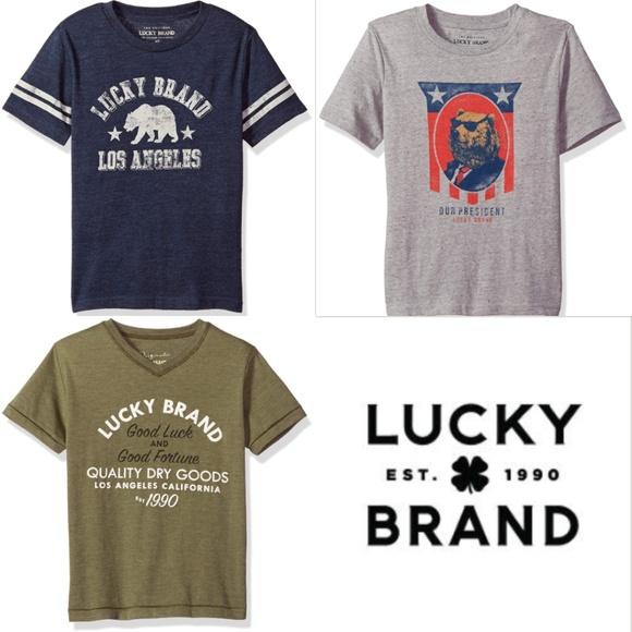 Lucky Brand Boys Short Sleeve California Tee